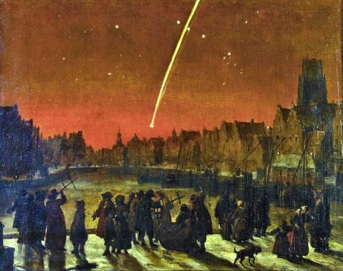 Lieve Verschuier, La grande cometa del 1680 sopra Rotterdam (1680).