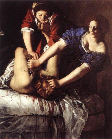 Artemisia Gentileschi, Giuditta che decapita Oloferne, 1612
